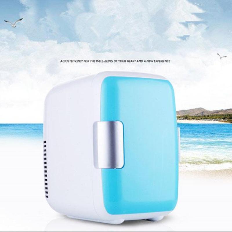 Tủ lạnh mini hộ gia đình và xe hơi VegaVN - 4Lít (Kèm bộ chuyển đổi nguồn 12V sang 220V) có thể dùng ở nhà Màu ngẫu nhiên