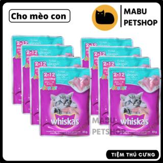 Combo 6-12 gói Pate whiskas 85g thức ăn cho mèo bổ sung dinh dưỡng cho mèo con - Date mới thumbnail