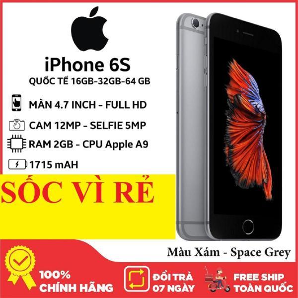 [Trả góp 0%]Điện thoại Iphone6 S 16G bản Quốc Tế mới zin full chức năng  Đủ Màu Bao đổi miễn phí tại nhà