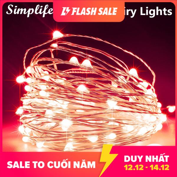 Bảng giá Dây đèn LED Simplife 5M bằng đồng chống nước, có cổng cắm USB dùng trang trí phòng ngủ, sân vườn, giáng sinh - INTL