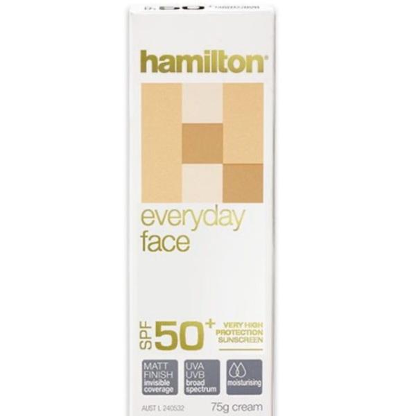 Kem chống nắng cho da mặt Hamilton Spf 50+ 75gr hàng Úc nhập khẩu