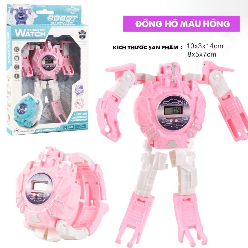Nơi bán Đồng hồ, Đồng hồ trẻ em , Đồng Hồ Điện Tử Dành Cho Trẻ Em Biến Hình Robot 2 Trong 1