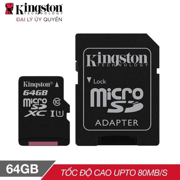 Thẻ nhớ Kingston 64GB SDHC Class 10 UHS - BH Chính hãng 5 Năm