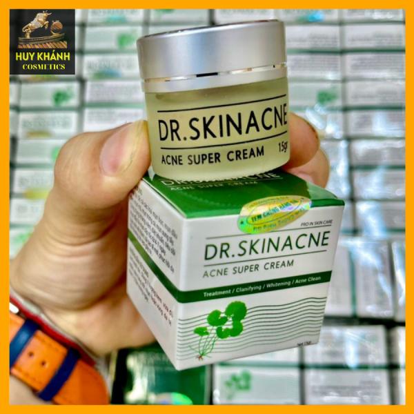 Kem dưỡng da DR SKINACNE SUPER CREAM xoá mụn cám, mụn bọc, mụn ẩn và tàn nhang, sẹo thâm ,se khít lỗ chân lông an toàn hiệu quả với tinh chất nghệ, rau má, dầu tràm và mật ong hiệu quả sau 7 ngày sử dụng