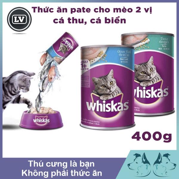 Pate  mèo lon Whiskas 400g - Thức ăn cho mèo
