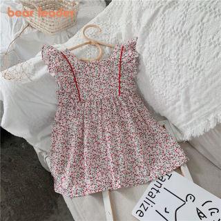 Đầm Xếp Ly Công Chúa Bé Gái Gấu Leader Trang Phục In Hoa Cho Bé Thời Trang, Đầm Hoa Dự Tiệc Cho Trẻ Em Trang Phục Ngọt Ngào Cho Trẻ Em