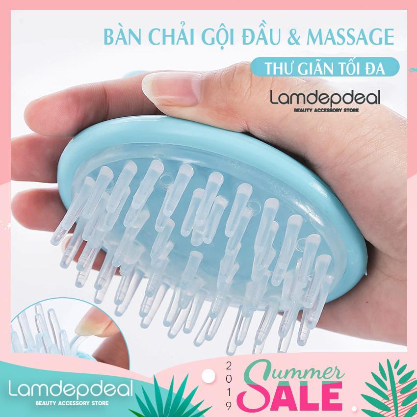 [FS 98K + COMBO GIẢM 12K] Bàn chải gội đầu kết hợp massage da đầu bằng túi khí - Lamdepdeal chính hãng