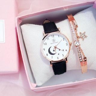 Đồng hồ thời trang nữ Fashion Watch mặt trăng khuyết dây da nhung mẫu mới SC275 thumbnail