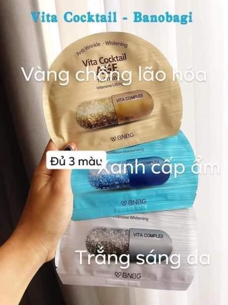 Mặt nạ Vita Cocktail Hàn Quốc hộp thiếc 10 miếng giá rẻ