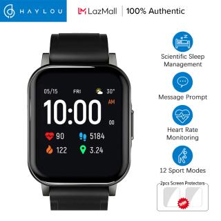 Đồng hồ thông minh Haylou LS02 Phiên bản tiếng Anh 12 Chế độ thể thao Màn hình HD lớn 1,4 inch Bluetooth5.0 Đồng hồ thông minh Chế độ chờ lâu Đồng hồ đeo tay quản lý giấc ngủ chống nước IP68 thumbnail