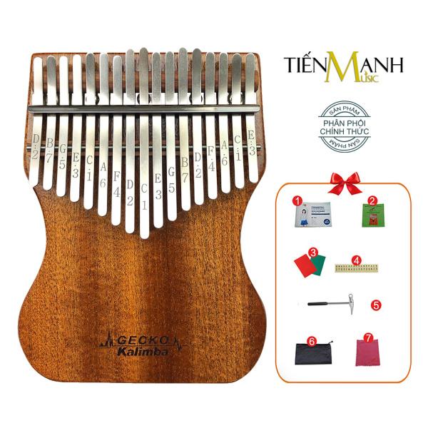 [Khắc Phím] Đàn Kalimba Gecko 17 Phím K17MAP - Tone C, Gỗ Mahogany - Mbira Thumb Finger Piano 17 Keys