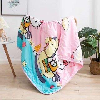 Mền chăn đũi cotton hoạt hình 2 mặt- nhiều màu thumbnail