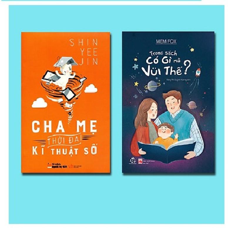 Sách- Combo Giúp trẻ yêu đọc sách Trong Sách Có Gì Mà Vui Thế + Cha Mẹ Thời Đại Kĩ Thuật Số Mhbooks tặng Bookmark