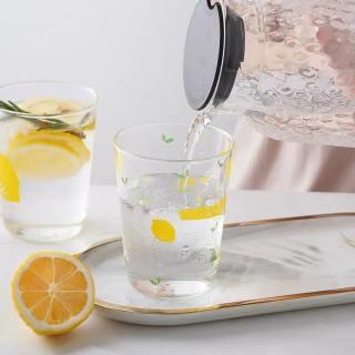 Cốc thủy tinh dễ thương ins yoholoo cốc nước cốc cà phê chịu nhiệt họa tiết trái cây hoạt hình, quà tặng trong suốt cốc sữa, cốc soda mùa hè - hình 3