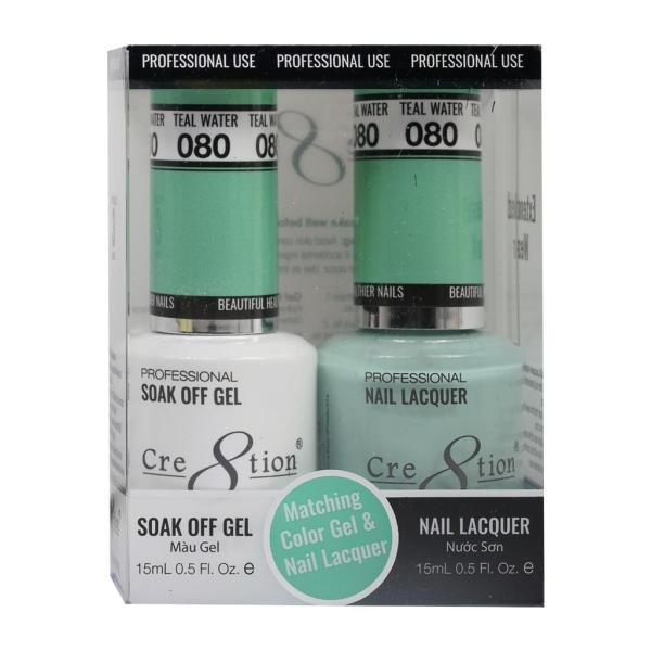 Sơn móng tay Cre8tion Matching Duo Gel  Teal Water 080 giá rẻ