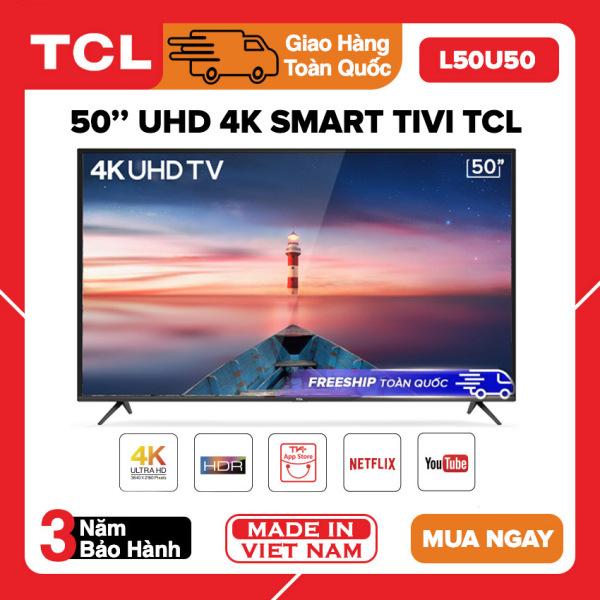 Bảng giá [TRẢ GÓP 0%] Smart Tivi TCL 50 inch UHD 4K - Model L50U50 HDR, Mirco Dimming, Dolby, T-Cast, Tivi Giá Rẻ - Bảo Hành 3 Năm