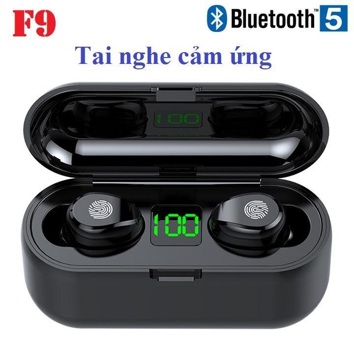 Mã Giảm Giá tại Lazada cho Tai Nghe Cảm ứng TWS F9 Bluetooth 5.0 (đen)
