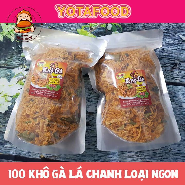 [HCM]Khô Gà Lá Chanh YOTAFOOD siêu ngon loại 1  (100g) đẳng cấp- sạch sẽ - đảm bảo ATVSTP