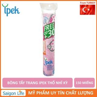 Bông tẩy trang IPEK 150 miếng Thổ Nhĩ Kì giúp tẩy trang và làm sạch da không gây kích ứng thấm hút nhanh chóng thumbnail
