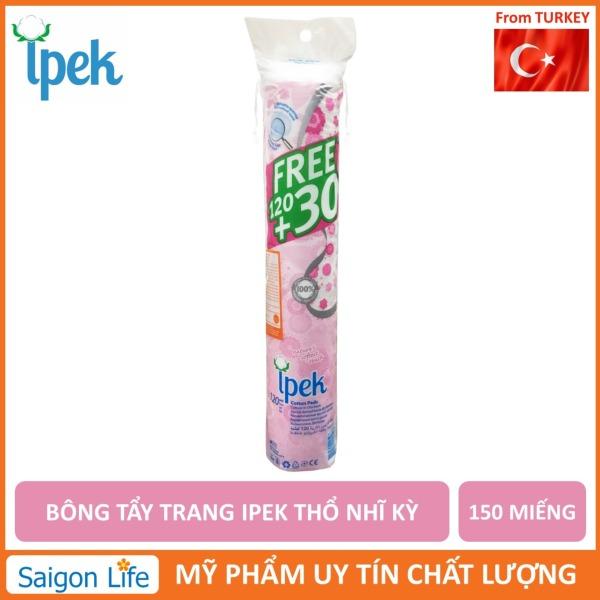 Bông tẩy trang IPEK 150 miếng Thổ Nhĩ Kì giúp tẩy trang và làm sạch da không gây kích ứng thấm hút nhanh chóng giá rẻ