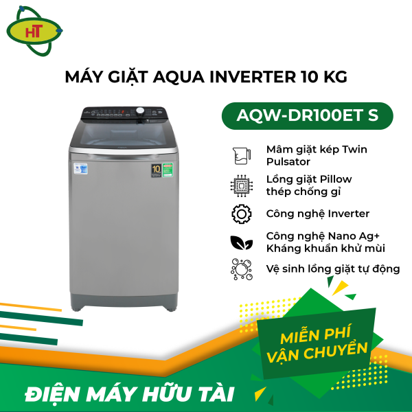 Bảng giá Máy giặt Aqua Inverter 10 Kg AQW-DR100ET S