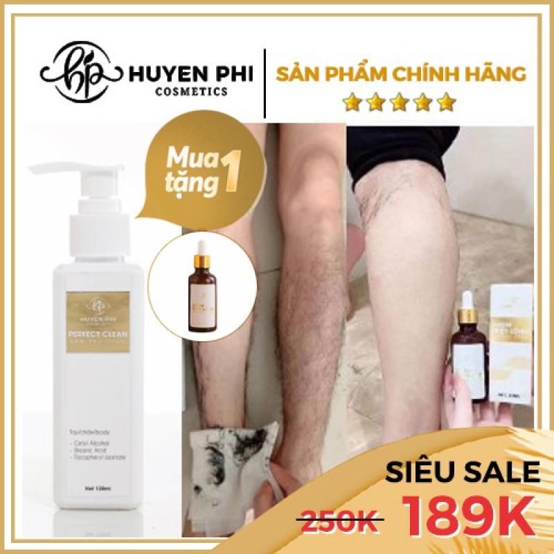 Kem Tẩy Lông Huyền Phi + serum tẩy lông, Huyền Phi Cosmetics Triệt Lông Tận Gốc, Triệt Mùi Hôi Nách, Triệt lông mu, lông nách, lông bikini