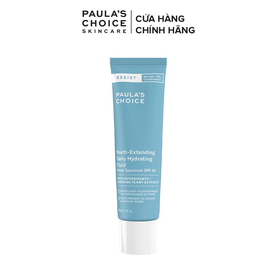 Kem chống nắng phổ rộng bảo vệ dài lâu Paula's Choice Resist Youth-Extending Daily Mattifying Fluid SPF 50 60ml