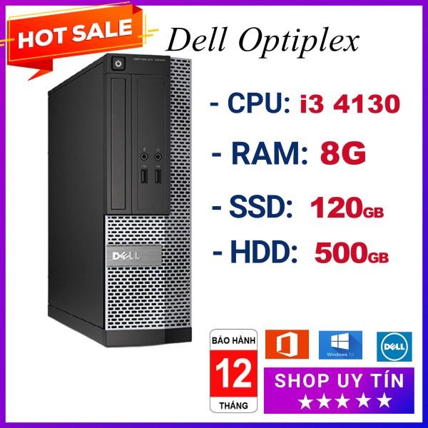 Bảng giá Case máy tính đồng bộ Dell 3020 i3 4130 Ram 8G, ổ cứng SSD 120GB và HDD 500GB, hàng chính hãng nhập khẩu Nhật, bảo hành 12 tháng Phong Vũ