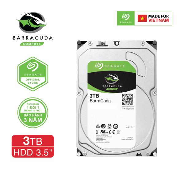 Bảng giá Ổ cứng HDD 3.5 PC SEAGATE BarraCuda 3TB SATA 5400RPM 256MB - ST3000DM007 Phong Vũ