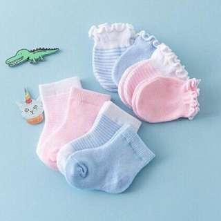 Set bao tay và tất cho trẻ sơ sinh chất len
