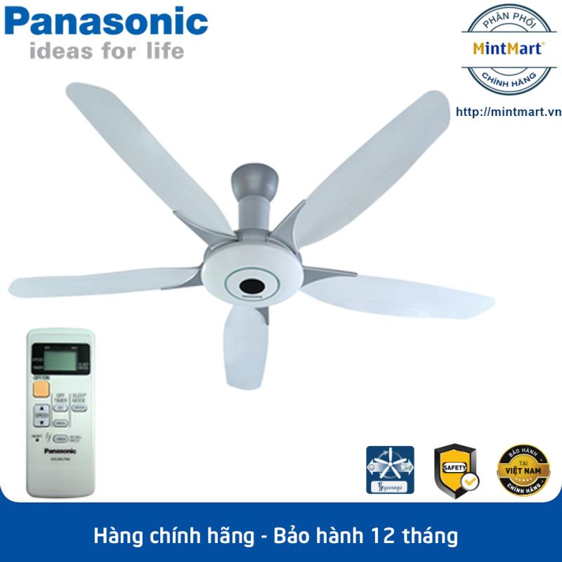 Quạt trần 5 cánh Panasonic F-60WWK Công suất 76W - Có điều khiển từ xa, 7 tốc độ gió