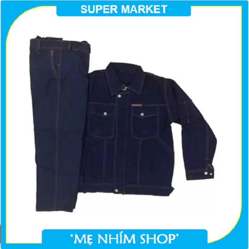 Bộ quần áo bò Jean thợ điện , thợ hàn , chống điện chống nóng - Bảo hộ lao động