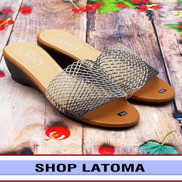 Dép quai ngang nữ cao 3 phân kết quai lưới sang trọng thời trang cao cấp Latoma TA4543 (Nhiều màu) giá rẻ