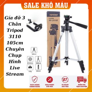 Bộ Tripod chân chụp ảnh 1020mm và giá đỡ điện thoại - Gía đỡ 3 Chân Tripod 3110 105cm Chuyên Chụp Hình Live Stream thumbnail