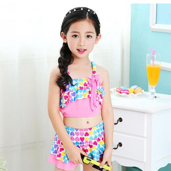 Giá bán [Tặng kèm nón bơi đồng bộ] Đồ bơi 2 mảnh xinh yêu cho bé gái 4-10 tuổi BBShine – DB002