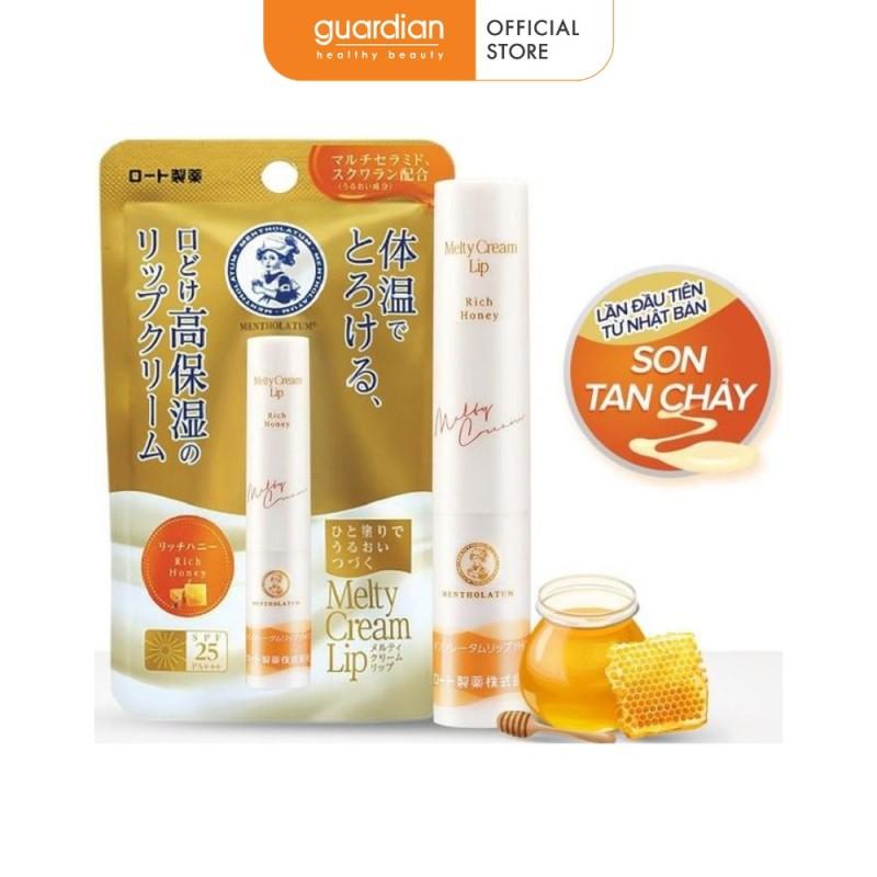 Son Dưỡng Môi Chống Nắng Mentholatum Melty Cream Lip SPF 25PA+++ Mật Ong 2.4g