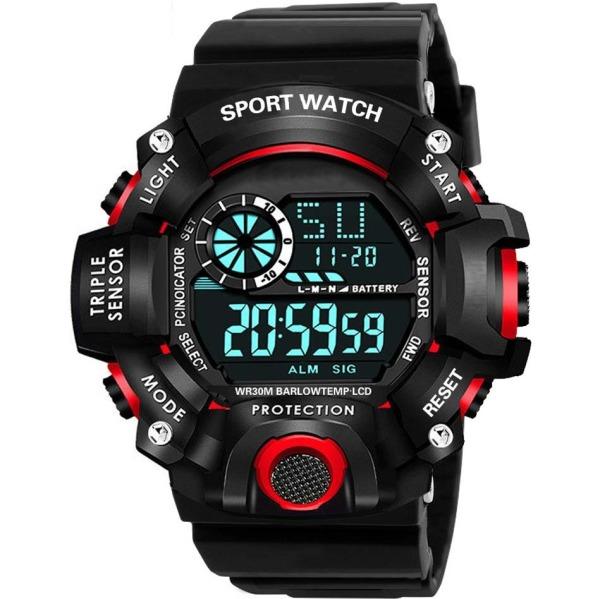 Đồng hồ Nam CRNAIRA C1819 - Đồng hồ điện tử SPORTS cá tính dây silicon cao cấp đầy đủ các chức năng xem giờ , báo thức, lịch tuần, đồng hồ bấm giờ thể thao