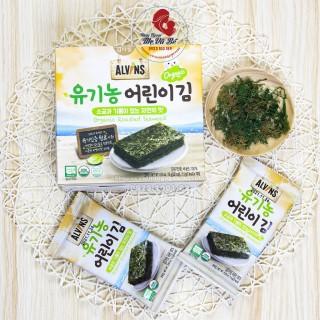 Rong Biển Tách Muối Ăn Liền Dạng Lá Organic Alvin Cho Bé, Rong Biển Ăn Liền, Rong Biển Hàn Quốc [Date 1 2022] - Tách Lẻ 5 Gói thumbnail