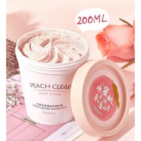 [HCM]Kem tẩy tế bào chết từ trái đào Heyxi Body Peach 200ml dưỡng ẩm làm trắng da - MIMOSAA