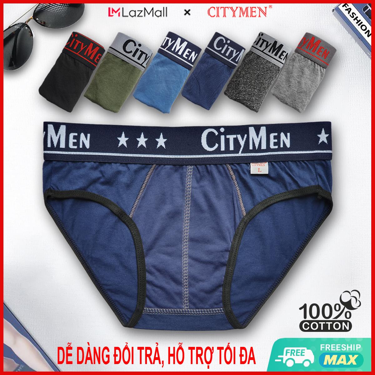 Quần Lót Nam cao cấp | chữ CITYMEN | quần xì nam | quần xịp, sịp nam | vải cotton 2 chiều | hiệu CITYMEN | kiểu brief | đồ lót nam