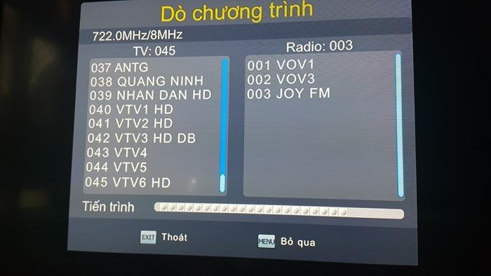 Combo bộ đầu thu mặt đất DVB T2 cùng anten và dây cáp