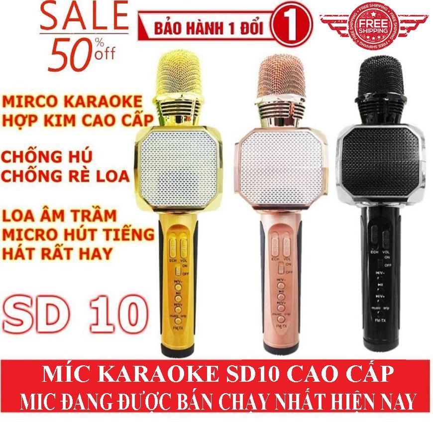 dienmayxanh - Micro karaoke bluetooth loai nao tot nhat, Mua Ngay TOP Mic Hát Karaoke Kèm Loa Bluetooth SD10 Hát Và Nghe Cực Hay pin khỏe , phù hợp cho mọi nhu cầu sử dụng, dù là người lớn hay trẻ nhỏ