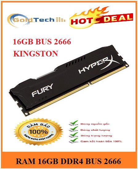 Offer Ưu Đãi Ram DDR4 16GB Bus 2666 Kingston HyperX Fury Hàng Mới 100% Bảo Hành 36 Tháng