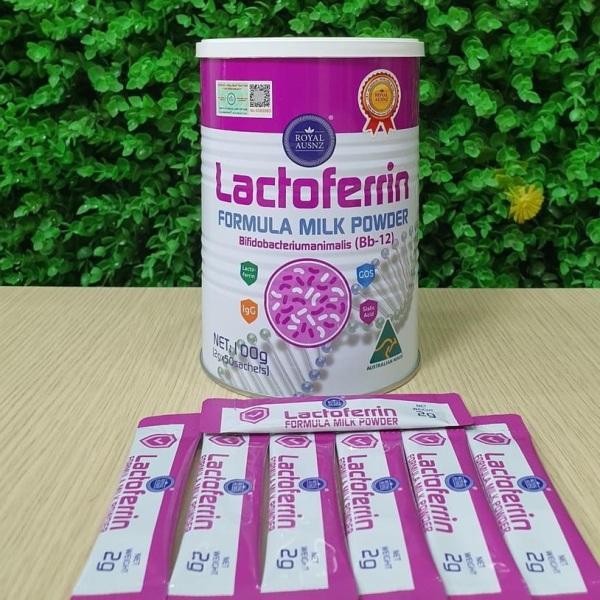 Sữa Hoàng Gia Úc Lactoferrin Milk Powder Bifidobacteriumanimalis (Bb-12) dạng thanh có bổ sung lợi khuẩn giá rẻ