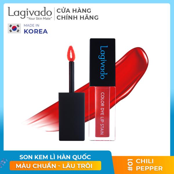 Son kem lì lên màu chuẩn, lâu trôi Hàn Quốc Lagivado chính hãng Color Dye Lip Stain dạng nước – 04 màu son đẹp