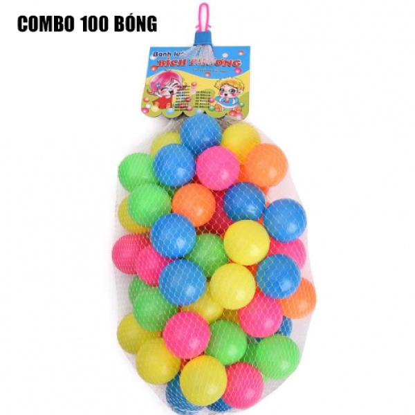 Combo 100 trái bóng nhựa cho bé- Chất liệu nhựa ABS siêu bền an toàn với trẻ