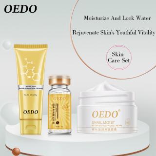 Bộ chăm sóc da mặt OEDO gồm sữa rửa mặt tạo bọt, dung dịch trẻ hóa da và kem dưỡng ẩm chiết xuất từ ốc sên giúp kiểm soát dầu, chống lão hóa - INTL thumbnail
