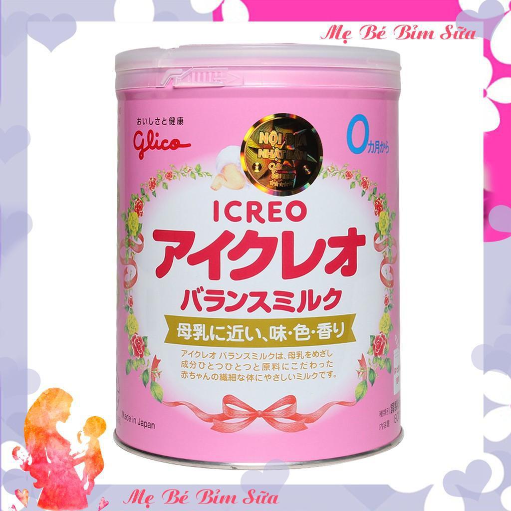 Sữa Glico Icreo Nhật Bản số 0 màu hồng, 800g