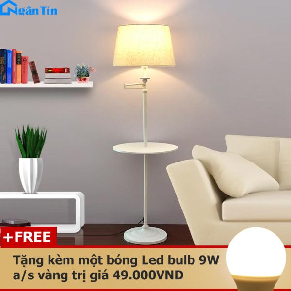 Đèn Cây Đứng Trang Trí Phòng Khách Phòng Ngủ Đọc Sách DC531 Ngân Tín (Tặng kèm một bóng Led Bulb 9W ánh sáng vàng)
