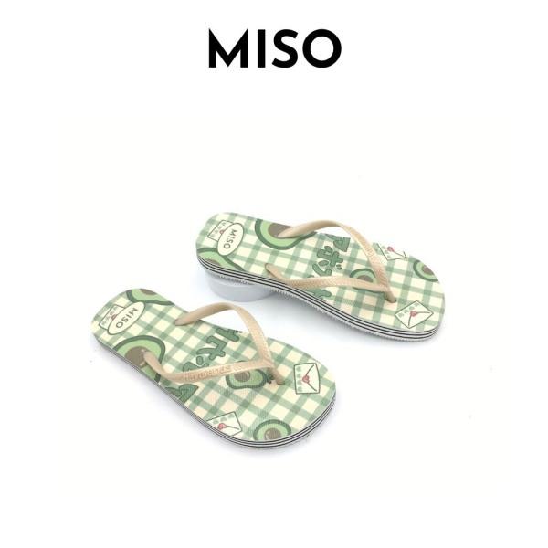 Dép tông xỏ ngón nổi bật đế bằng êm chân dạo phố đi biển Miso M021